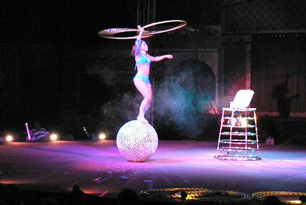 Ancient Argentinean art of disco ball hooping